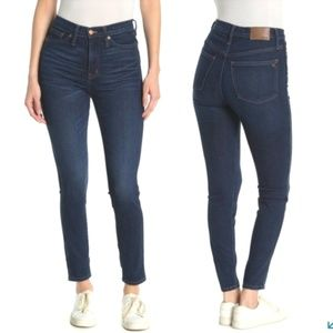 "Madewell 10"" High Rise Skinny jeans Lynchburg wash"